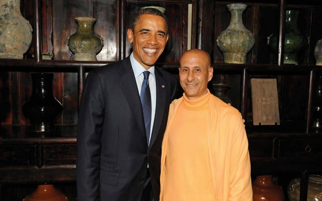 Radhanath Swami with President Barack Obama