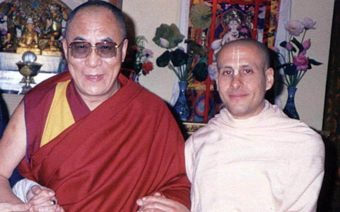 Radhanath Swami with the Dalai Lama